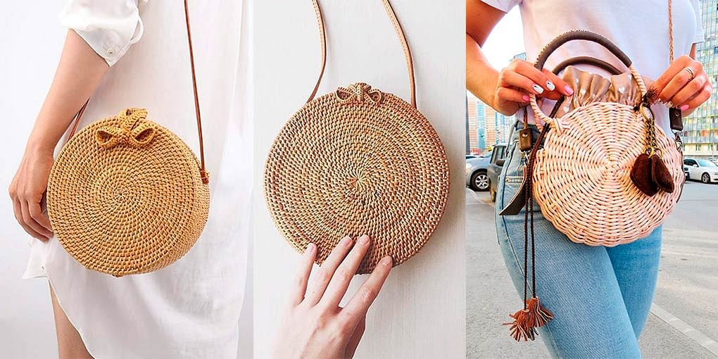 сумка-таблетка-плетеная