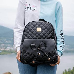 Рюкзак с бантом (черный)