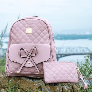 Рюкзак с бантом (розовый)