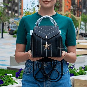 Рюкзак со звездой (черный)5