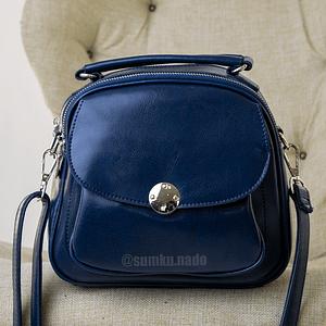 Пухлая кожанная (синяя)
