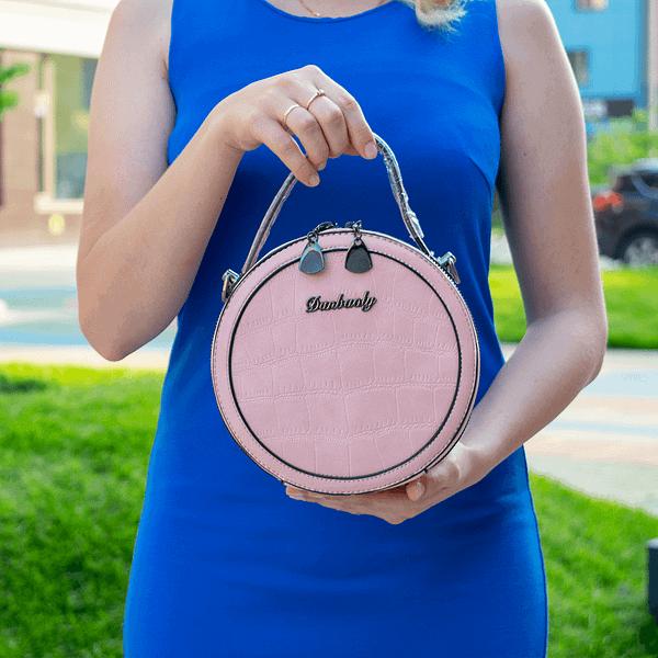 Круглая с двумя замками (розовая)